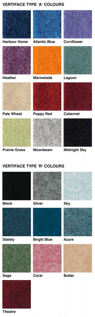 Vertiface colour guide