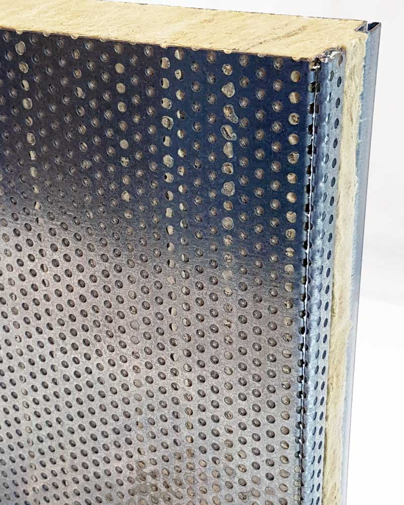 Acoustic enclosure Panels for Industrial Applications Side Detail