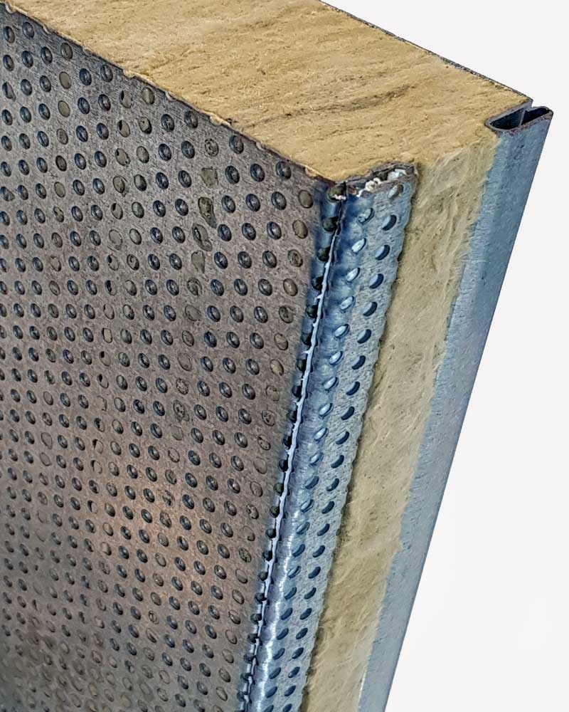 Acoustic enclosure Panels for Industrial Applications Top Detail