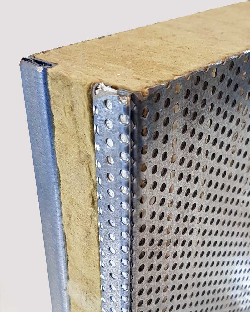 Acoustic enclosure Panels for Industrial Applications Reverse Detail