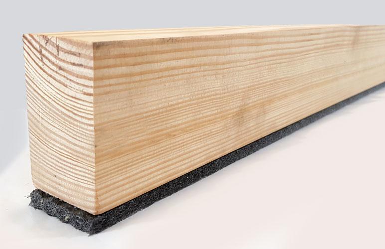 Acoustic battens for concrete floors