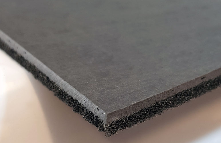 Acoustic Overlay Material for Concrete Floors
