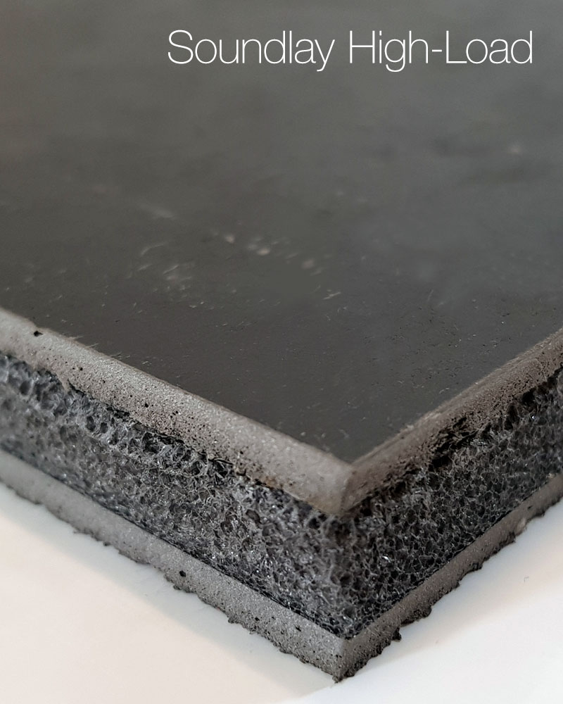 High-Load Acoustic Overlay Material for Concrete Floors