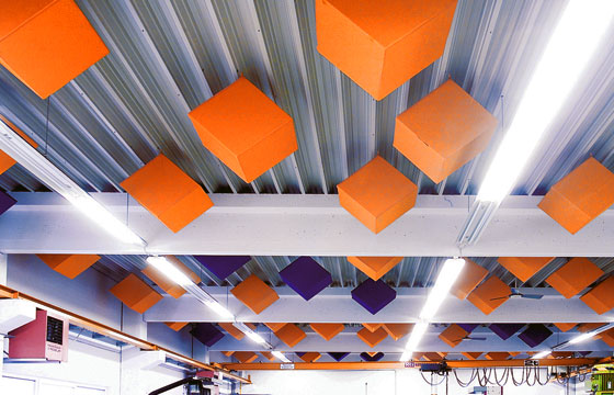 Suspended Sound Absorbers