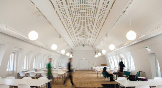 Spray-On Acoustical Plaster for Gymnasium Ceilings