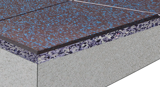 High-Performance Acoustic Flooring for Free Weight Area Option 2