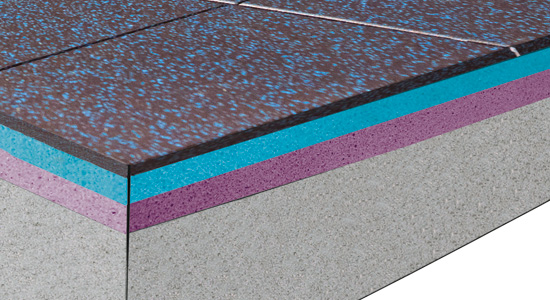 High-Performance Acoustic Flooring for Free Weight Area Option 3
